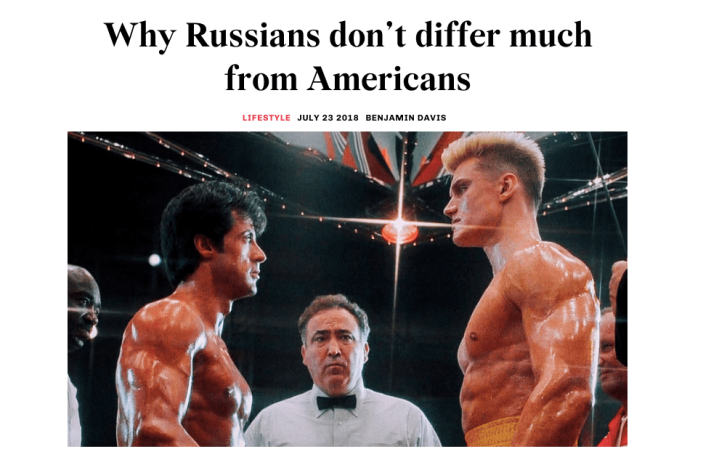 Why Russians and Americans aren't that Different | Russia Beyond